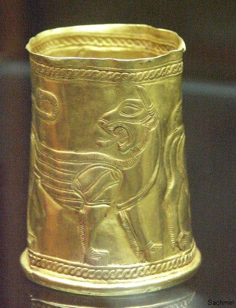 Teheran - Reza Abbasi-Museum - Goldbecher (Achämenidenzeit)