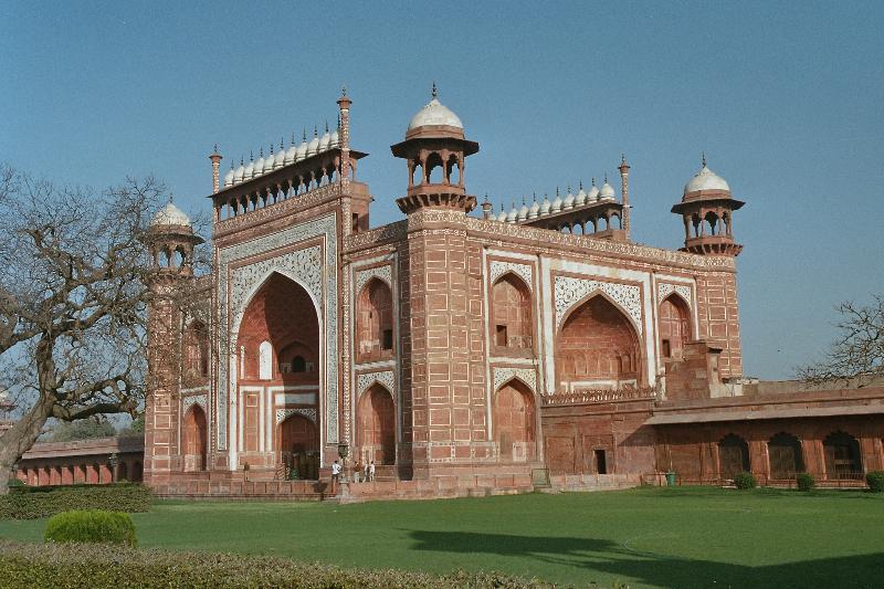 Agra - Taj Mahal - Eingang