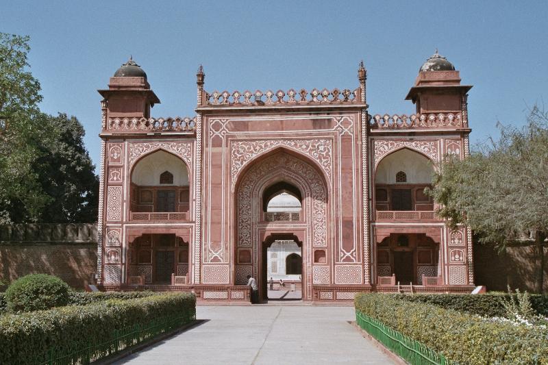 Agra - Mausoleum des Itimad ud-Daulah - Torbau