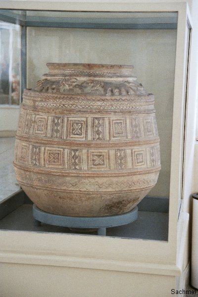 Archäologisches Museum Teheran - Tongefäss, Tepe Gian 3000 v. Chr.
