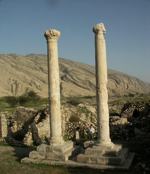 Bishapur - Griechisch-römisches Säulenmonument
