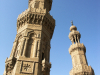 Kairo_Die Minarette der Muayyad-Moschee
