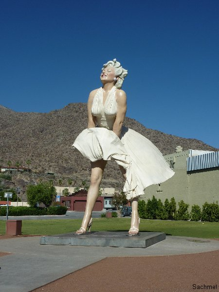 Palm Springs - Denkmal Marilyn Monroe