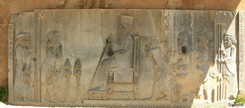 Persepolis - Reliefplatte Darius und Xerxes