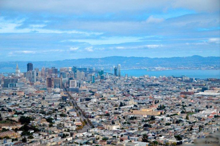 San Francisco - Blick von der Anhöhe Twin Peaks