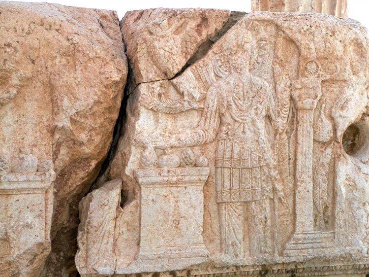 Palmyra - Tempel des Baal - Detail