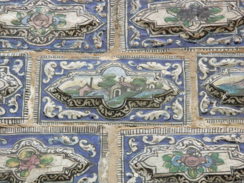 Teheran - Golestan-Palast - Empfangspalast - Wandverkleidung