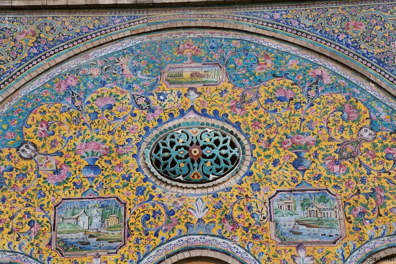 Teheran - Golestan-Palast - Villenmosaik